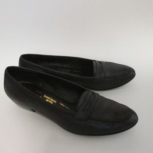 Salvatore Ferragamo Shoes - Salvatore Ferragamo Black Loafers Slip On 7 AA